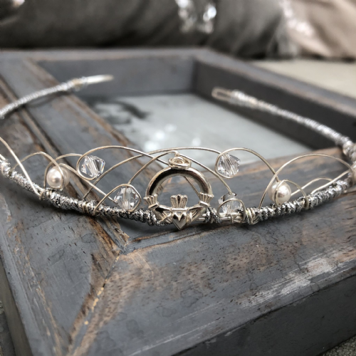 Claddagh wedding tiara